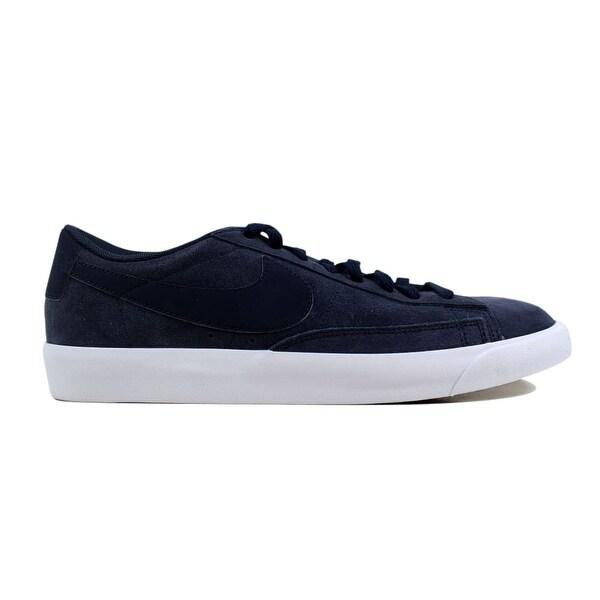 online store e65ed 170f5 Shop Nike Blazer Low Suede Obsidian/Obsidian-Sail AJ9516-400 Men's ...