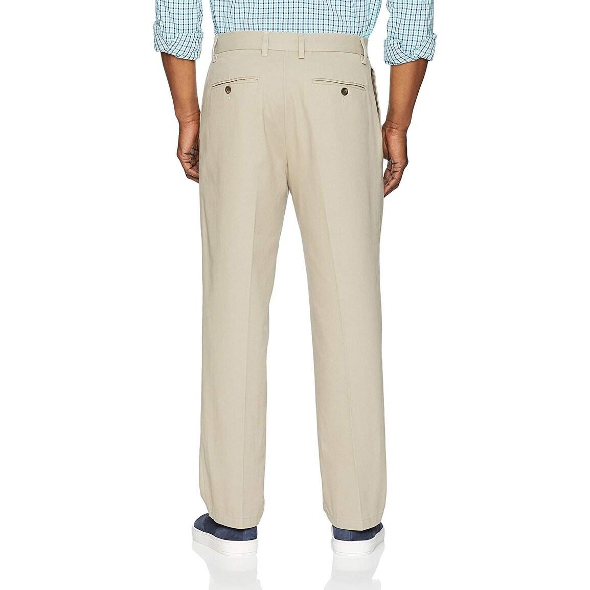 Size 32W x 32L Khaki Essentials Men/'s Slim-Fit Wrinkle-Resistant