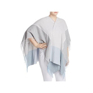 Eileen Fisher Womens Poncho Top Fringe Open Front - o/s