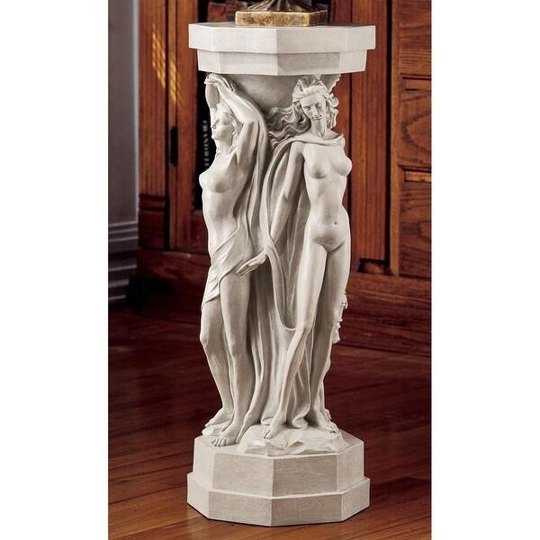 Design Toscano Column of the Maenads Sculptural Pedestal: Set of Two