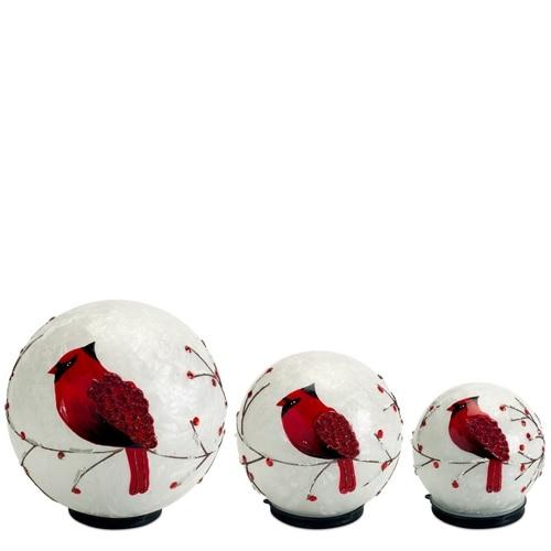 LED Cardinal Globes