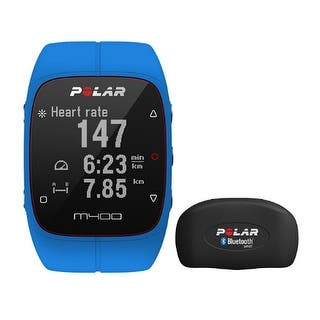 Polar M400 Sports Watch With GPS And HRM - Blue Sports Watch With GPS And Heart Rate Monitor|https://ak1.ostkcdn.com/images/products/is/images/direct/50def92254340924f1a1df9416878dccfaa614fb/Polar-M400-Sports-Watch-With-GPS-And-HRM---Blue-Sports-Watch-With-GPS-And-Heart-Rate-Monitor.jpg?impolicy=medium