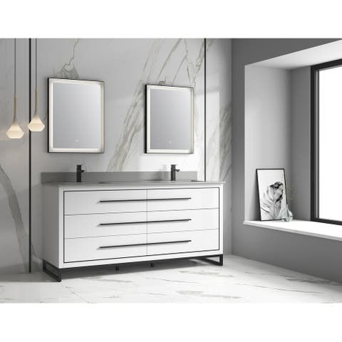 """Alma Kathyia 72"""" Double Sink Vanity"""