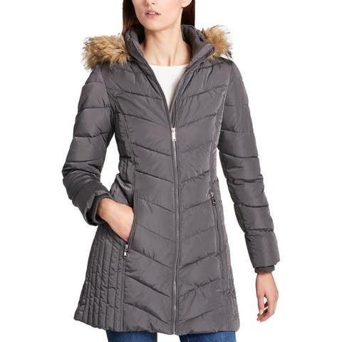 Tommy Hilfiger Womens Petites Parka Coat Winter Cold Weather - Eiffel