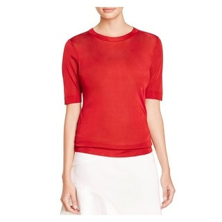 DKNY Womens Pullover Top Crew Neck Short Sleeves - p