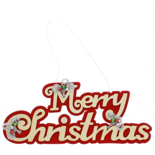 Red Felt Merry Christmas