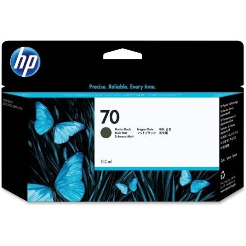 HP 70 130-ml Matte Black DesignJet Ink Cartridge (C9448A) (Single Pack)