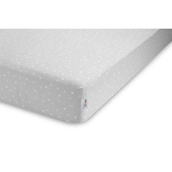 Baby Gund Twinkle Delux Crib Sheet - Grey