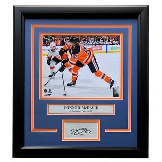 Connor McDavid Edmonton Oilers Framed 8x10 Photo W Laser Engraved Signature