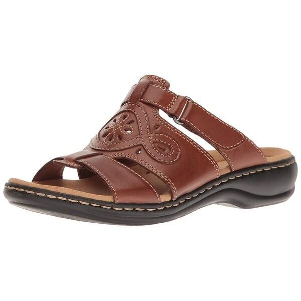 Shop Clarks Womens Leisa Open Toe Casual Slide Sandals