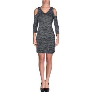Kensie Womens Cocktail Dress Space Dye Cold Shoulder