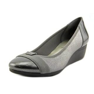 Anne Klein Sport Birta Women Open Toe Synthetic Gray Wedge Heel