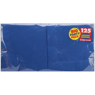 """Big Party Pack Luncheon Napkins 6.5""""X6.5"""" 125/Pkg-Bright Roy - bright royal blue"""