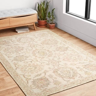 Link to Alexander Home Annabelle Botanical Vineyard Hand-Hooked Wool Rug Similar Items in Transitional Rugs