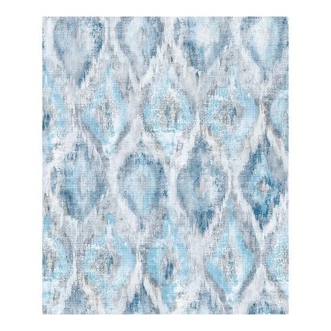 Gilboa Blue Ikat Wallpaper - 21 x 396 x 0.025