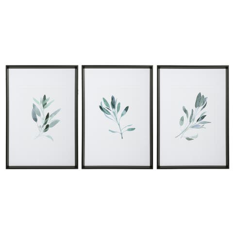 Uttermost Simple Sage Watercolor Prints (Set of 3)