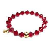 "January Birthstone Color Red Crystal Rachel 7"" Bracelet"