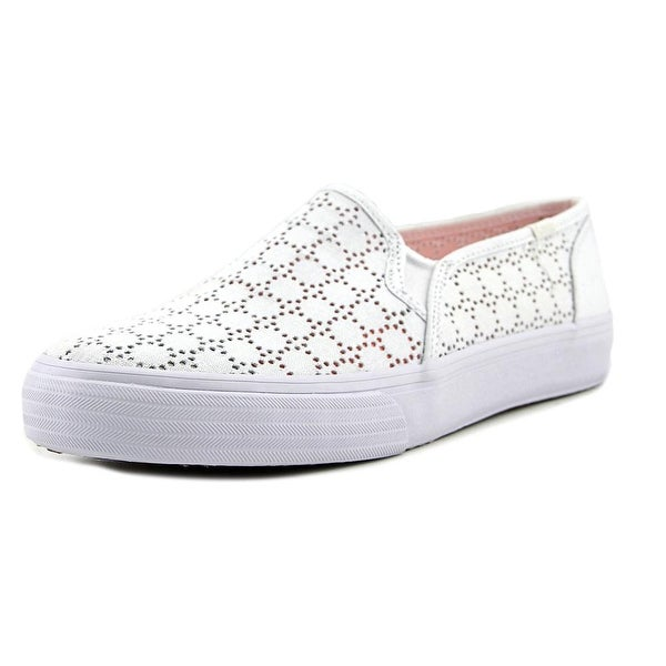Keds Double Decker Women  Round Toe Canvas White Loafer