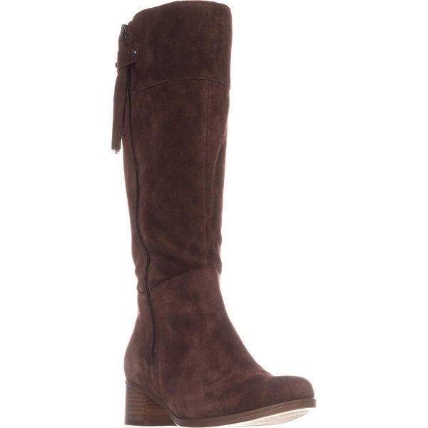 naturalizer Demi Block-Heel Riding Boots, Chocolate