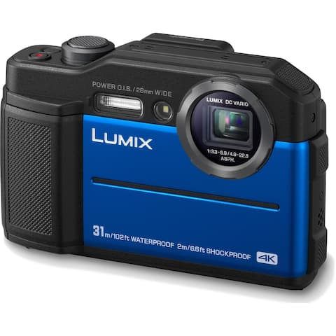 Panasonic LUMIX TS7 Waterproof Tough 20.4 MP Digital Camera (Blue)