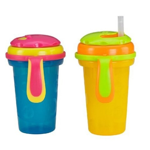 Fisher-Price 2-Piece Stack 'N Store Sippy Cup Straw Top, Neutral