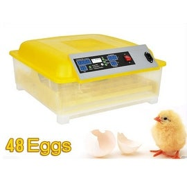 Egg Incubator Hatcher 48 Digital Clear Temperature Control Automatic Turning New 220V