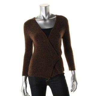 Catherine Malandrino Womens Sample Boucle 3/4 Sleeves Wrap Sweater - 4