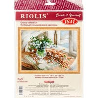 """Willow And Snowdrops Counted Cross Stitch Kit-11.75""""X8.25"""" 14 Count"""