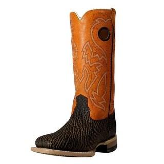 Cinch Western Boots Boys Girls Kids Neolite Choc Summer Peach