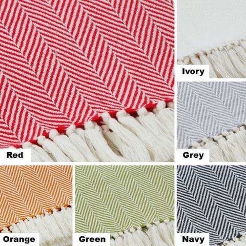 AANNY Designs Chester Cotton Throw Blanket