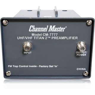 Channel Master CM-7777 Channel Master CM-7777 TITAN 2 Antenna Preamplifier - High Gain - 1 GHz - 54 MHz to 1 GHz