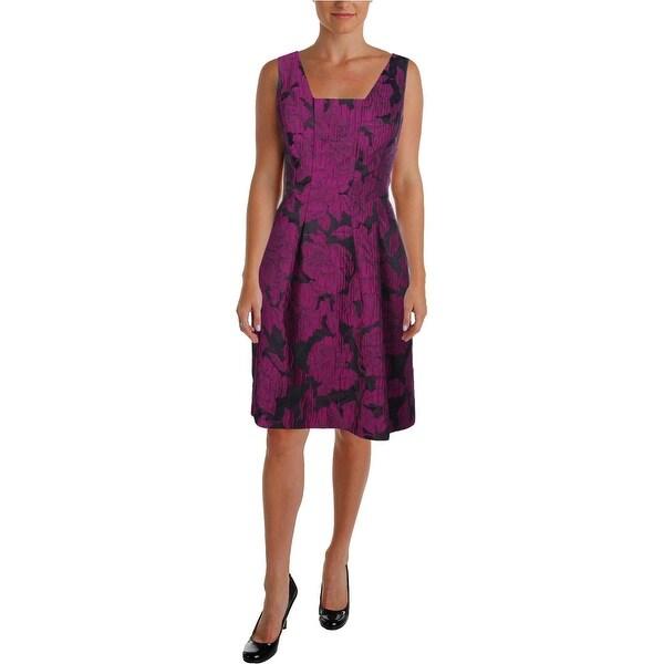 Lauren Ralph Lauren Womens Wear to Work Dress Sleeveless Jacquard