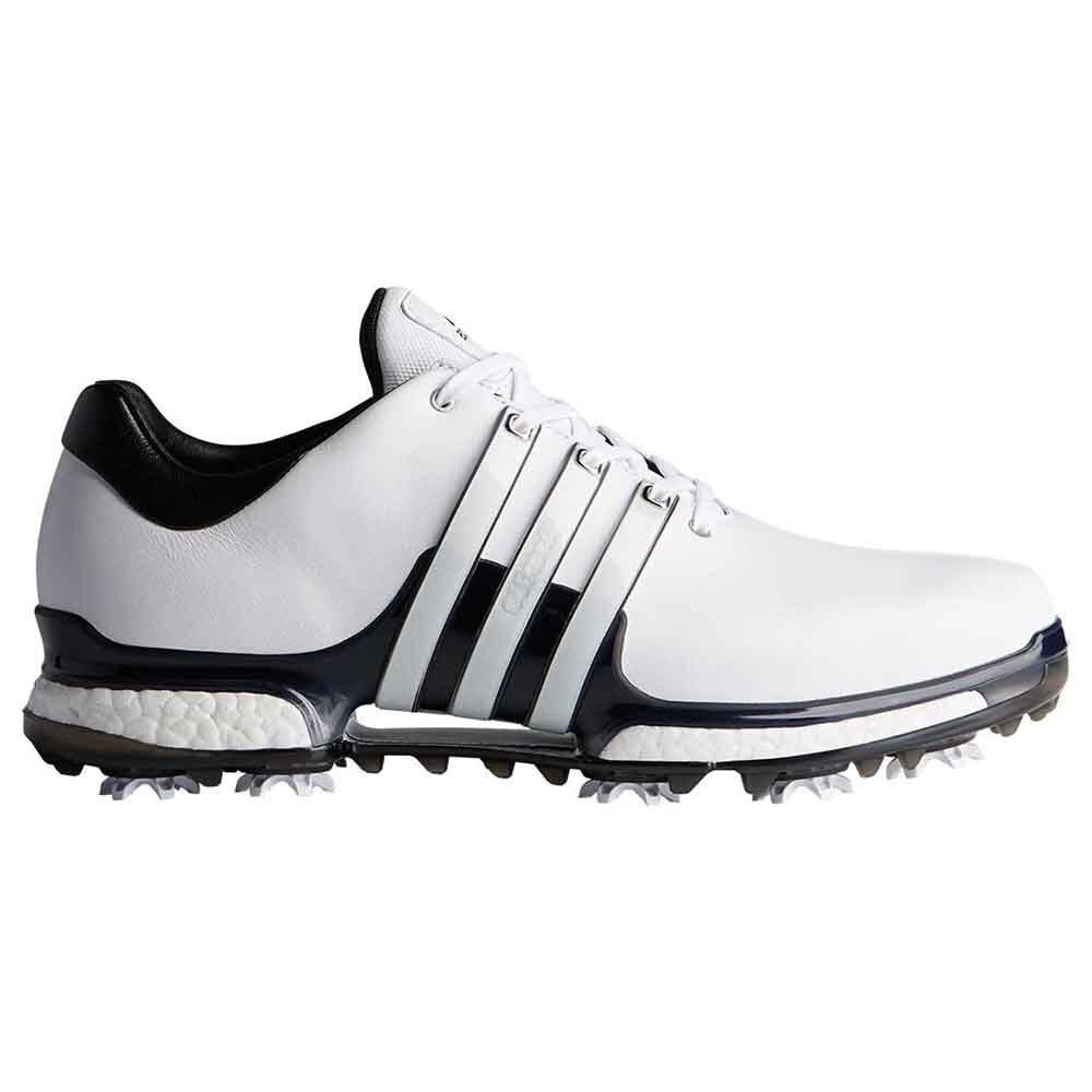 patio Escritor Correo aéreo  New Men's Adidas Tour 360 Boost 2.0 Golf Shoes White/Black/Black  Q44985-Q44939 - Overstock - 28415282