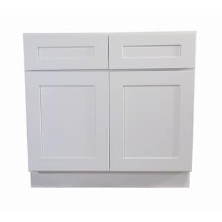 "Design House 561423 Brookings 48"" Double Door Base Cabinet with Two Drawers"