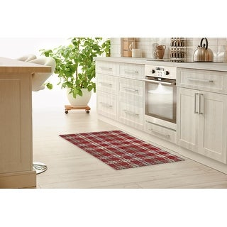 Amber Red Kitchen Mat By Kavka Designs Overstock 32224504