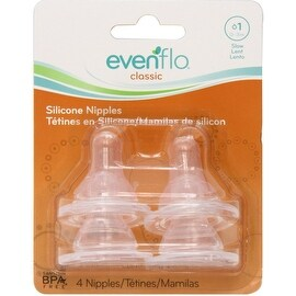 Evenflo Classic Nipples, Slow Flow 0-3 months 4 ea