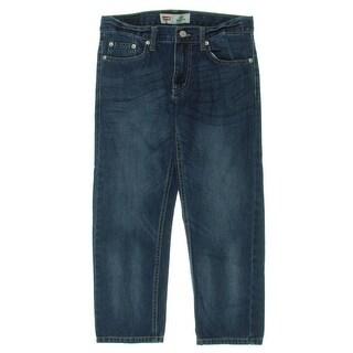 Levi's Boys 505 Straight Leg Jeans Regular Fit Five-Pocket - 28
