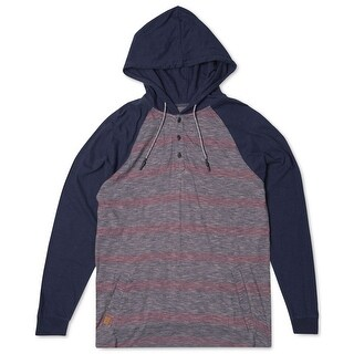 Ripcurl NEW Blue Red Mens Size Large L Pinstriped Pullover Hoodie
