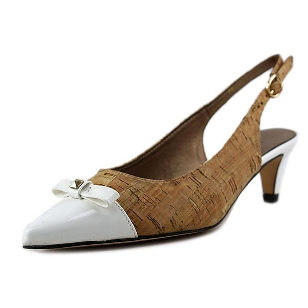Vaneli Tiffany N/S Pointed Toe Canvas Slingback Heel