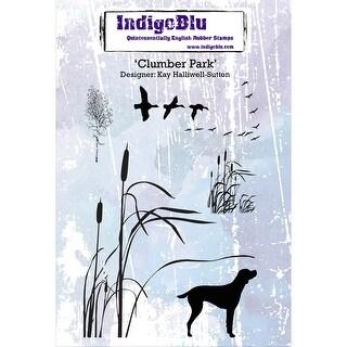 "IndigoBlu Cling Mounted Stamp 5""X4""-Clumber Park"