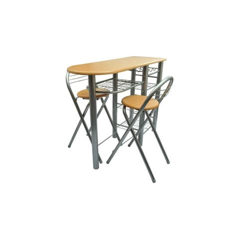 vidaXL Kitchen/Breakfast Bar/Table and Chairs Set Wood