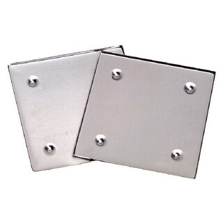 School Specialty Metal Mosaic Tile Raised Edge Square Coaster Base, 5-1/2 X 5-1/2 in, Silver