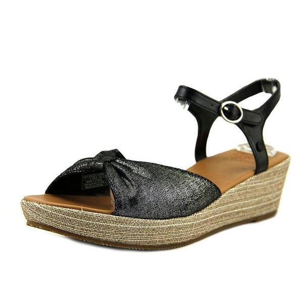 UGG I Love Prinne Sparkle Wedge Black Sandals
