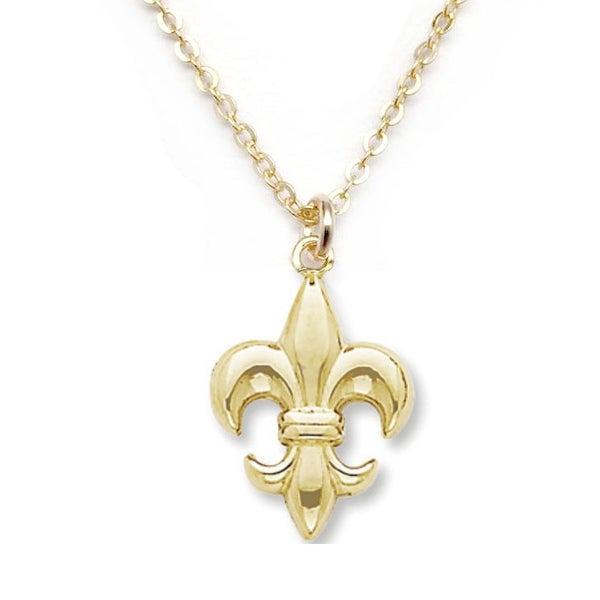 """Julieta Jewelry Fleur de Lis Gold Charm 16"""" Necklace"""