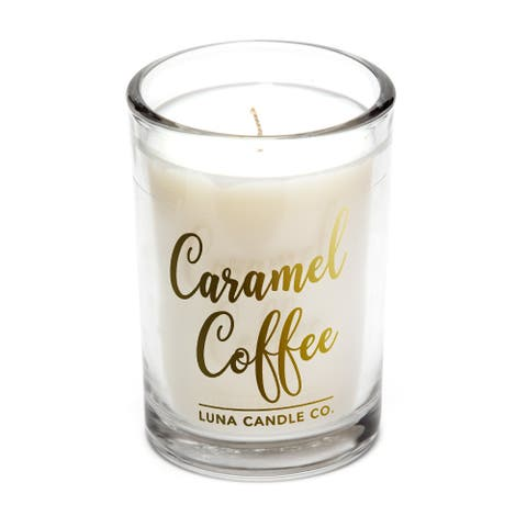 Elegant Carmel Coffee Scented Candle,Long Burn Time,Perfect Size 6 Oz.