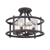 Designers Fountain 87511 Palencia 4 Light Semi-Flush Ceiling Fixture - artisan pardo wash