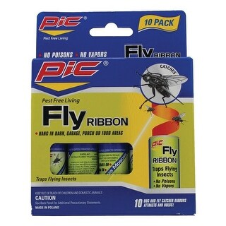 Pic Fr10b Fly Ribbon Bug Insect Catcher 10 Pk