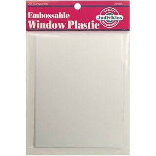 "Embossable Window Plastic Sheets 4.25""X5.5"" 20/Pkg"