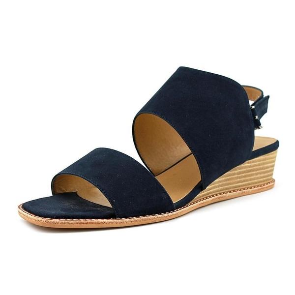 Vaneli Jack Women Open-Toe Leather Blue Slingback Sandal