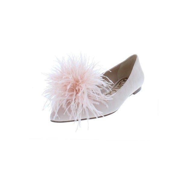 fc074dc37 Sam Edelman Womens Reina Dress Shoes Suede Feather Pom - 9 Medium (B